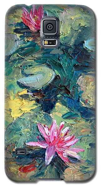 Red Waterlily  Galaxy S5 Case by Jieming Wang