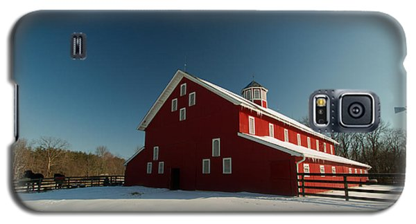 Red White And Blue At The Farm Galaxy S5 Case by Haren Images- Kriss Haren