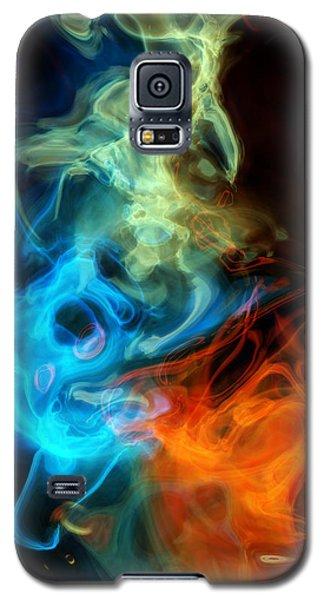 Red White And Blue Wispy Swirls Galaxy S5 Case