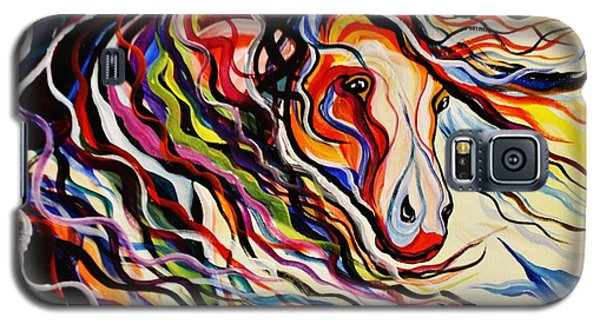Red Wind Wild Horse Galaxy S5 Case by Janice Rae Pariza