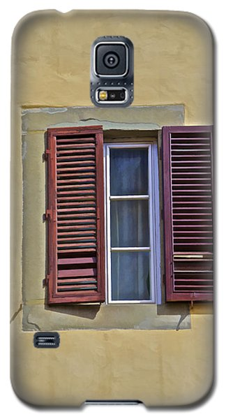 Red Window Shutters Of Florence Galaxy S5 Case