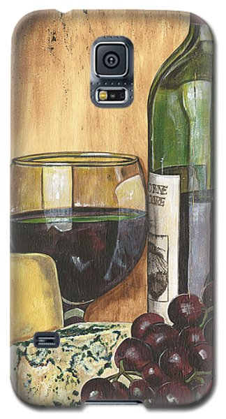Red Wine And Cheese Galaxy S5 Case