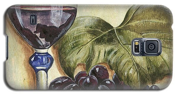 Wine Galaxy S5 Case - Red Wine And Grape Leaf by Debbie DeWitt