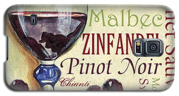 Wine Galaxy S5 Case - Red Wine Text by Debbie DeWitt