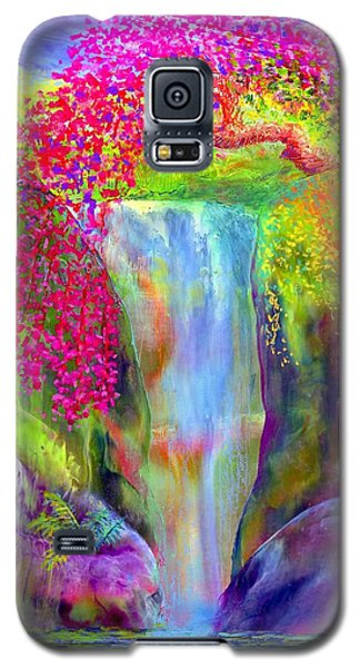 Waterfall And White Peacock, Redbud Falls Galaxy S5 Case