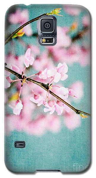 Redbuds Over Blue Galaxy S5 Case
