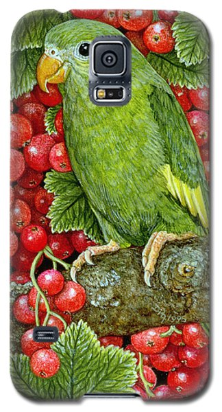 Redcurrant Parakeet Galaxy S5 Case by Ditz