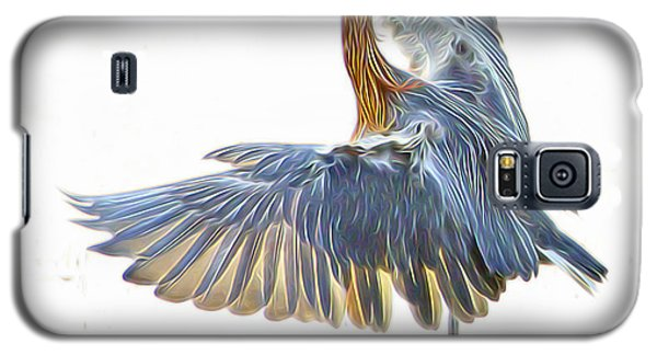 Galaxy S5 Case featuring the digital art Reddish Egret 1 by William Horden