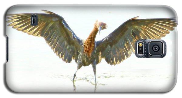 Galaxy S5 Case featuring the digital art Reddish Egret 2 by William Horden