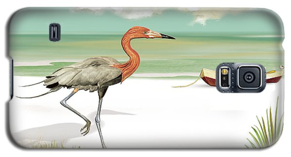 Galaxy S5 Case featuring the painting Reddish Egret by Anne Beverley-Stamps