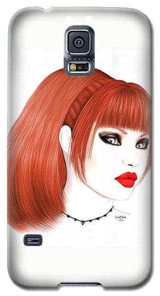 Redhead Cassia Galaxy S5 Case by Renate Janssen