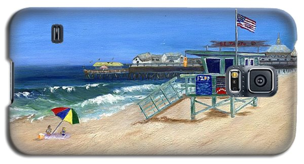 Galaxy S5 Case featuring the painting Redondo Beach Lifeguard  by Jamie Frier