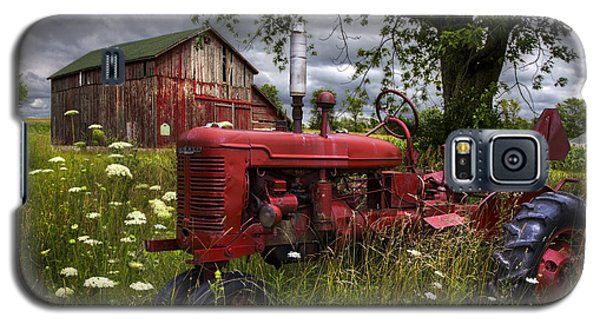 Reds In The Pasture Galaxy S5 Case by Debra and Dave Vanderlaan