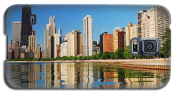Galaxy S5 Case featuring the photograph Refelctions Of Chicago by James Kirkikis