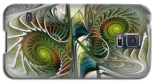 Reflected Spirals Fractal Art Galaxy S5 Case