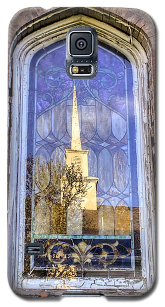 Galaxy S5 Case featuring the photograph Reflected Steeple by Rebecca Hiatt