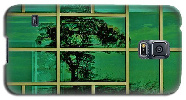 Galaxy S5 Case featuring the photograph Reflected Tree Framed by Craig Wood