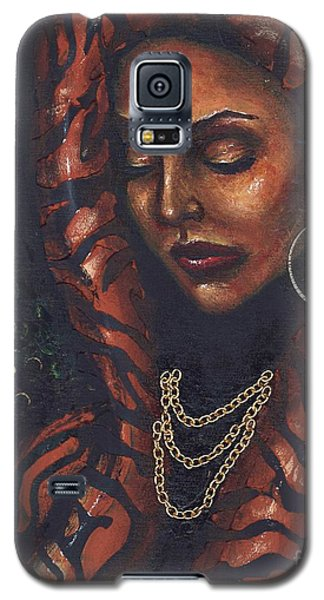 Galaxy S5 Case featuring the painting Reflection And Solitude by Alga Washington