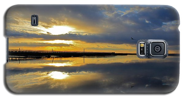 Reflection Grays Beach Boardwalk Galaxy S5 Case by Amazing Jules