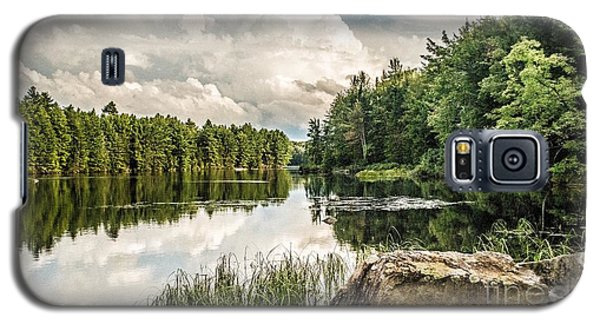Galaxy S5 Case featuring the photograph Reflection Lake In New York by Debbie Green