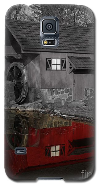 Reflection Of Red Mill Galaxy S5 Case by Bill Woodstock