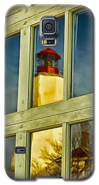 Galaxy S5 Case featuring the photograph Reflection Of Sandy Hook Lighthouse by Gary Slawsky