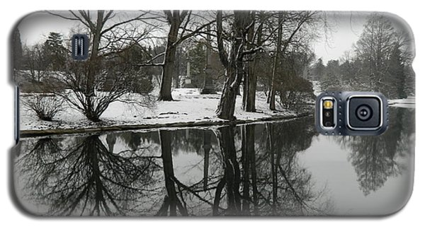 Galaxy S5 Case featuring the photograph Reflection Pond Spring Grove Cemetery by Kathy Barney