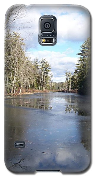 Reflections Caught On Ice At A Pretty Lake In New Hampshire Galaxy S5 Case