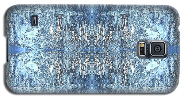 Galaxy S5 Case featuring the digital art Reflections In Blue by Stephanie Grant
