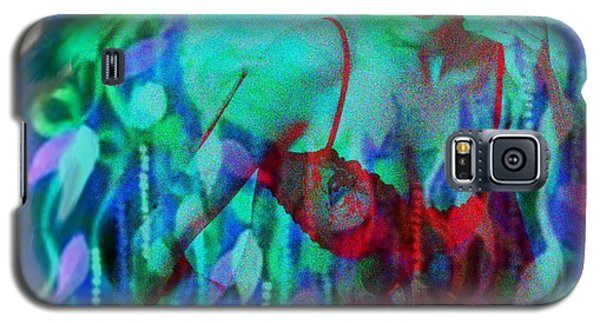 Galaxy S5 Case featuring the digital art Reflections In Floral And Red by Diana Riukas