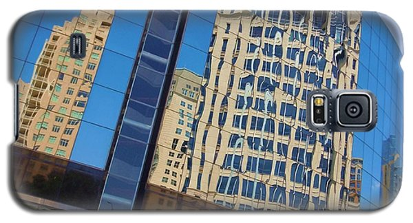 Galaxy S5 Case featuring the photograph Reflections In The Rolex Bldg. by Robert ONeil