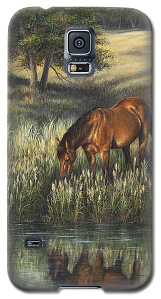 Galaxy S5 Case featuring the painting Reflections by Kim Lockman