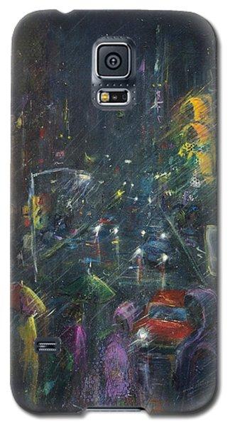 Reflections Of A Rainy Night Galaxy S5 Case by Leela Payne