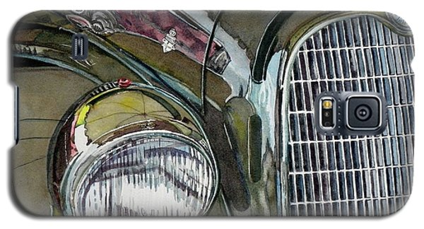 Galaxy S5 Case featuring the painting Reflections On 1931 Alfa Romeo Milano by Anna Ruzsan