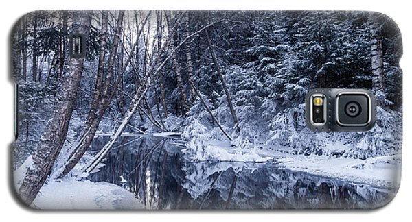 Reflections On Wintry River Galaxy S5 Case