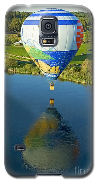 Galaxy S5 Case featuring the photograph Reflections Over The Dechutes by Nick  Boren