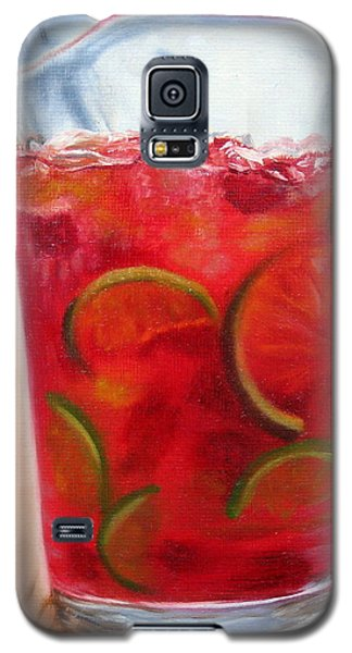 Galaxy S5 Case featuring the painting Refreshing by LaVonne Hand