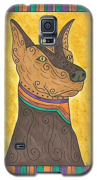 Galaxy S5 Case featuring the painting Regal Doberman by Susie Weber