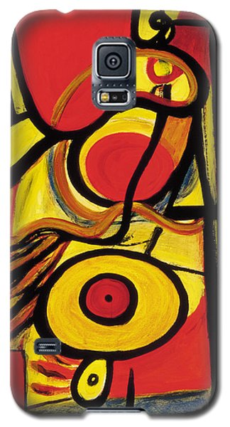 Galaxy S5 Case featuring the painting Relativity 2 by Stephen Lucas