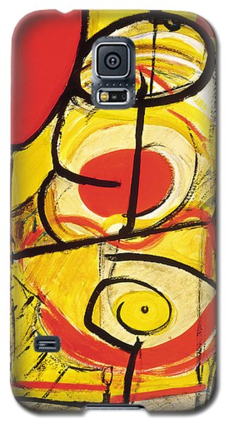 Galaxy S5 Case featuring the painting Relativity 3 by Stephen Lucas