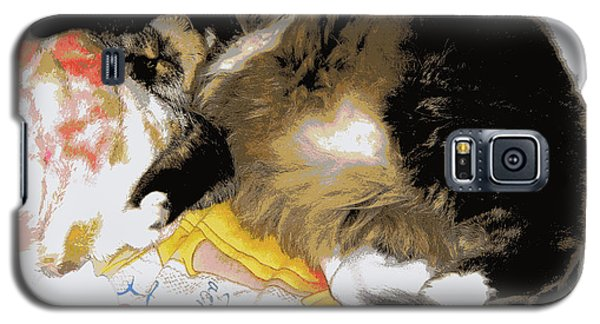 Relax Cat Galaxy S5 Case by Heidi Manly