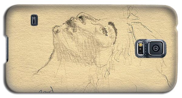 Galaxy S5 Case featuring the drawing Relaxation by Rand Swift