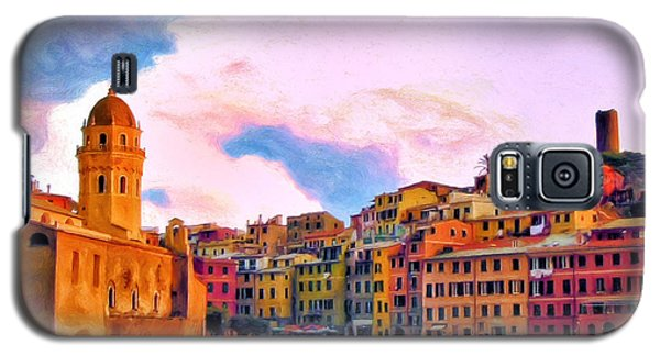 Relaxing Around Vernazza Galaxy S5 Case by Michael Pickett