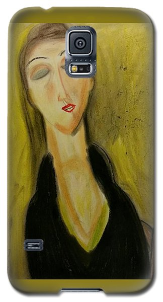 Sophisticated Lady With The Dreamy Eyes Galaxy S5 Case