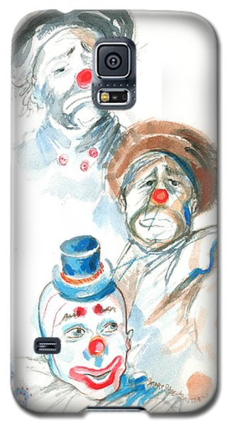 Galaxy S5 Case featuring the painting Remember The Clowns by Mary Armstrong