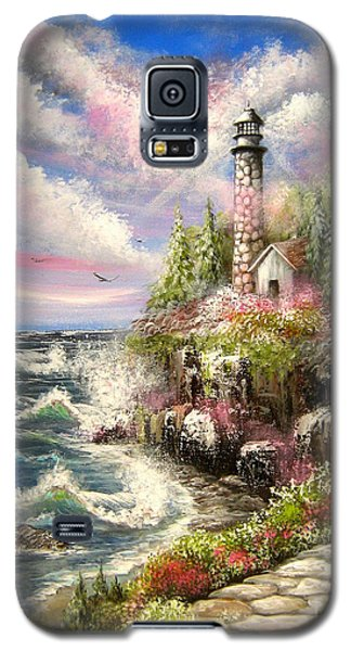 Galaxy S5 Case featuring the painting Remembering by Patrice Torrillo