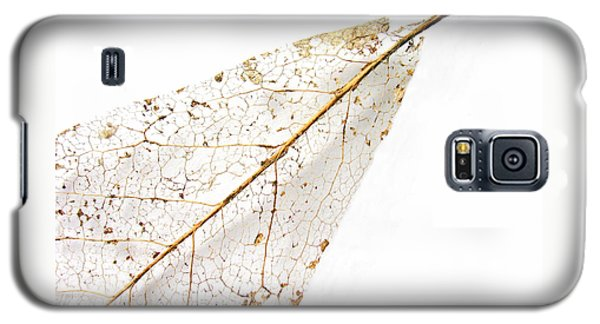 Galaxy S5 Case featuring the photograph Remnant Leaf by Ann Horn