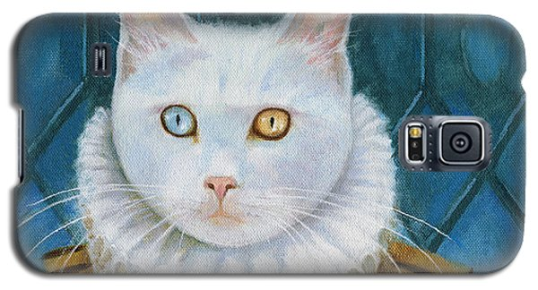 Galaxy S5 Case featuring the painting Renaissance Cat by Terry Webb Harshman