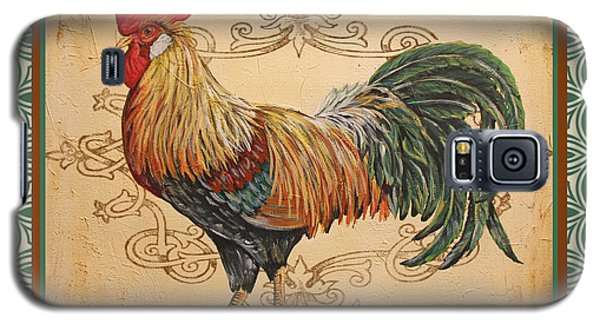Renaissance Rooster-a-green Galaxy S5 Case by Jean Plout