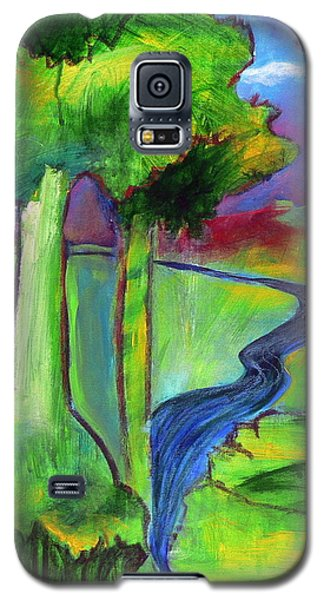 Galaxy S5 Case featuring the painting Rendezvous Triptych by Elizabeth Fontaine-Barr